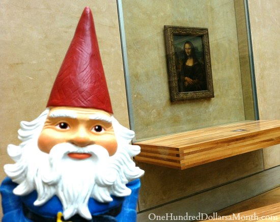 gnome mona lisa