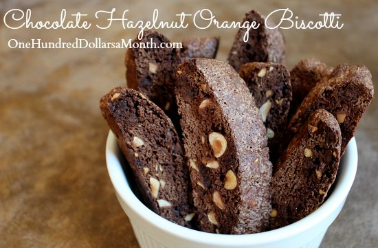 Chocolate Hazelnut Orange Biscotti