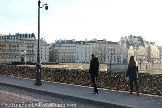Love Lock Bridge Paris, France