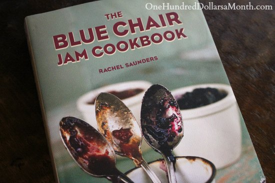 blue arm chair jam cookbook