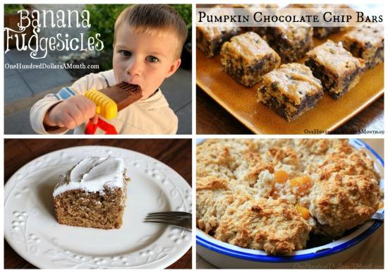 Weekly Meal Plan - Menu Plan Ideas desserts