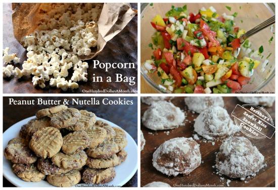 Weekly Meal Plan - Menu Plan Ideas snacks