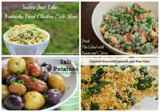 weekly menu plan side dishes