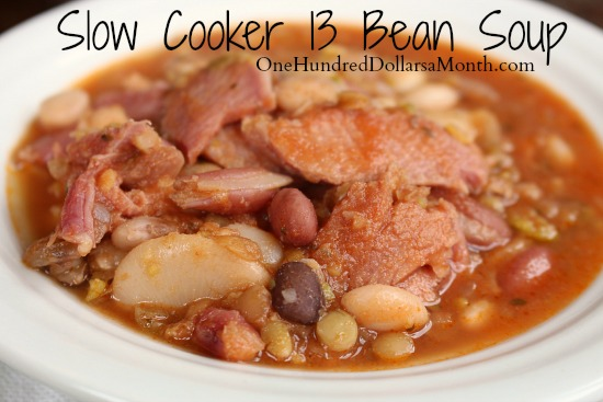 Slow Cooker 13 Bean Soup Recipe