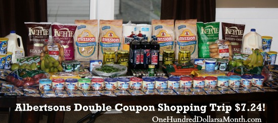 albertsons double coupon shopping trip