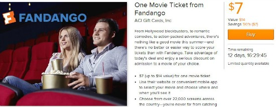 fandango movie ticket deals