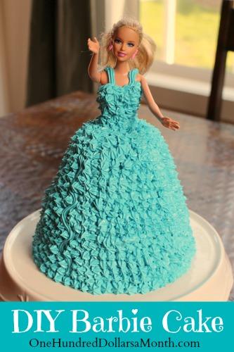 how to make a barbie cake