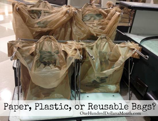 Paper, Plastic, or Reusable Bags