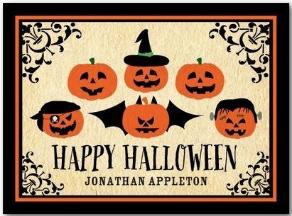 tiny prints halloween cards