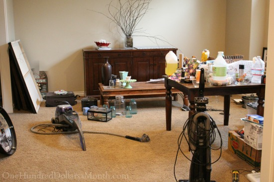 messy family room
