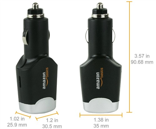 Dual USB Car Charger for Apple and Android Devices