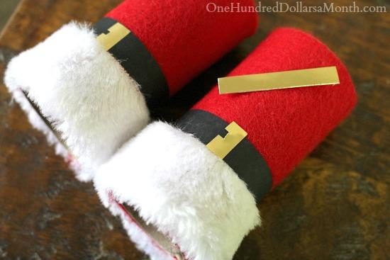 Easy Kids Christmas Craft - DIY Santa Binoculars