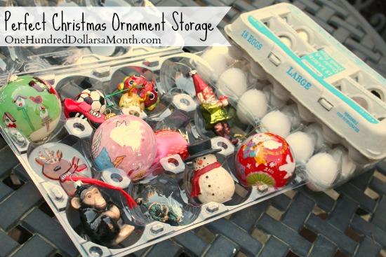 Upcycling Egg Cartons Perfect Christmas Ornament Storage