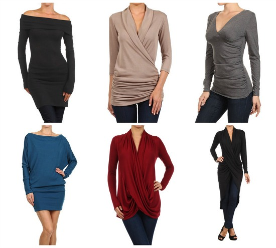 draped to perfection tops