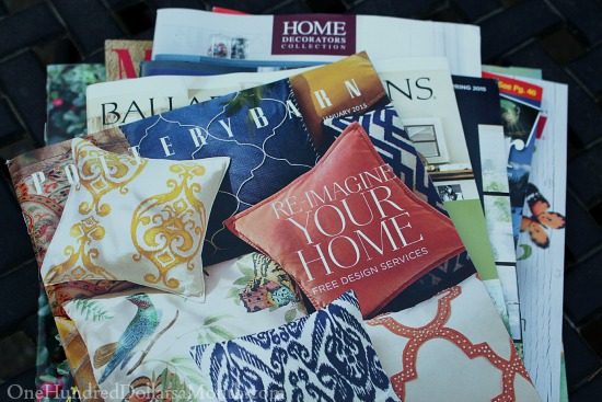 stack of catalogs