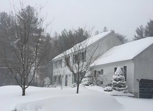 winter wonderland house with snow