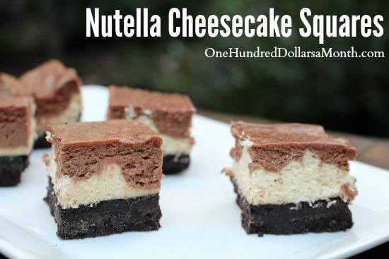 Nutella Cheesecake Squares