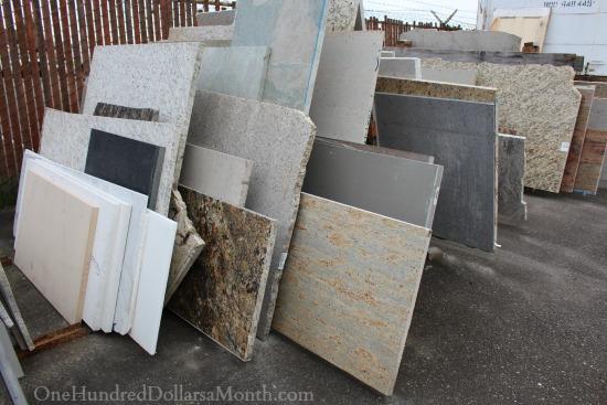 slab granite remnants