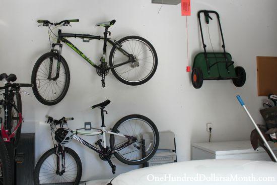 bike rack for garage wall