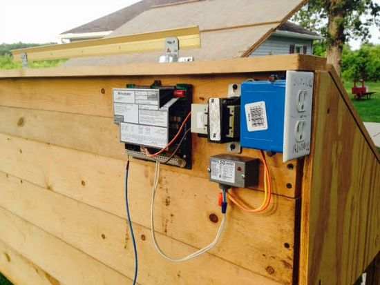 electrical chicken coop