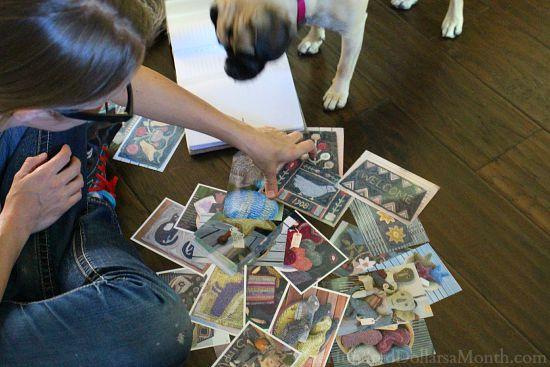 sorting photographs