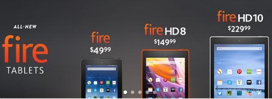 kindle fire tablets