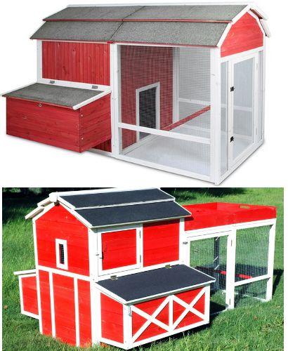 red barn chicken coop