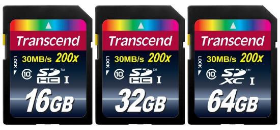 transcend memory cards