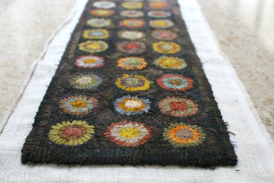 primitive penny rug