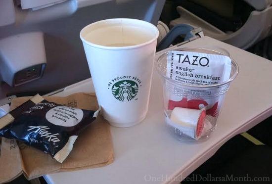 alaska airlines airplane food
