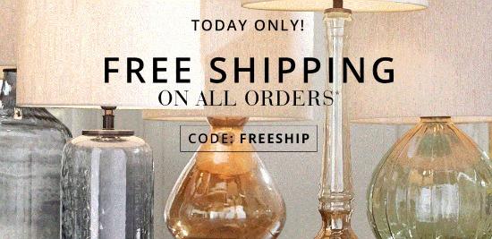 pottery barn free shipping