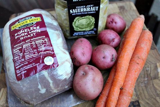 Slow Cooker Pork Roast and Sauerkraut