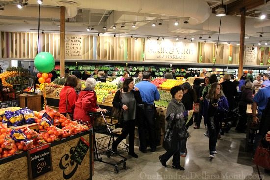produce section main and vine grocery store