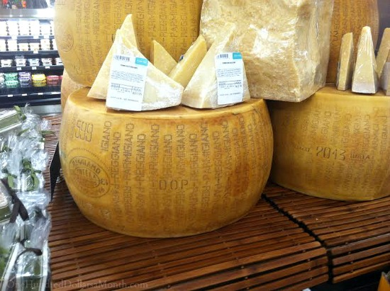 wheel of parmesan cheese