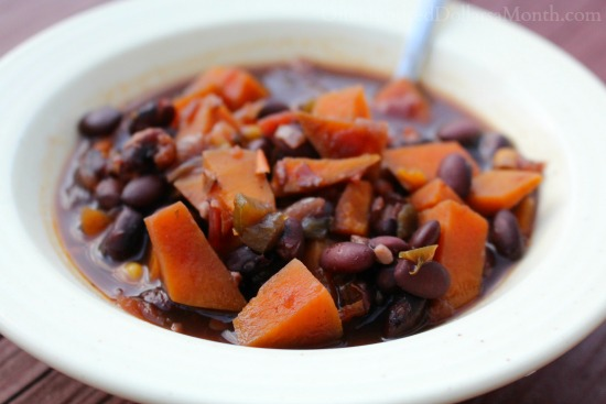 black bean sweet potato soup