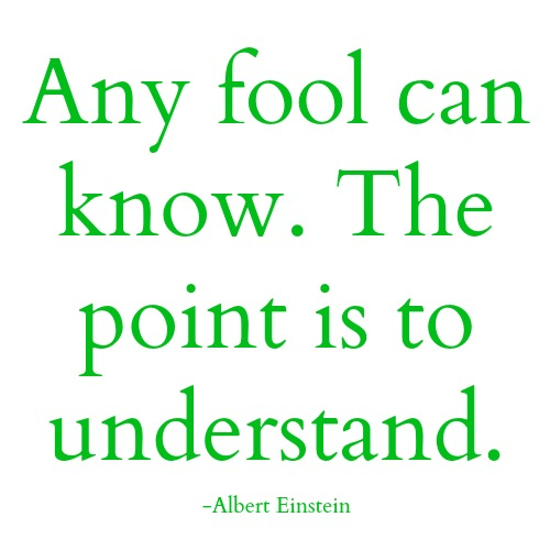 quotes - any fool can know