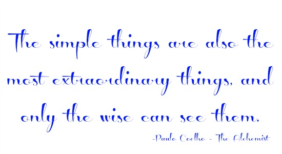 quotes - the simple things are