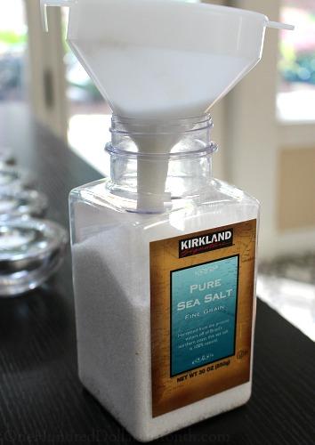 costco sea salt container