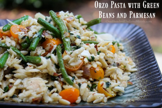 Orzo Pasta with Green Beans and Parmesan