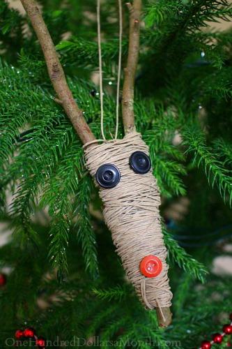 Homemade Rudolph Christmas Ornament