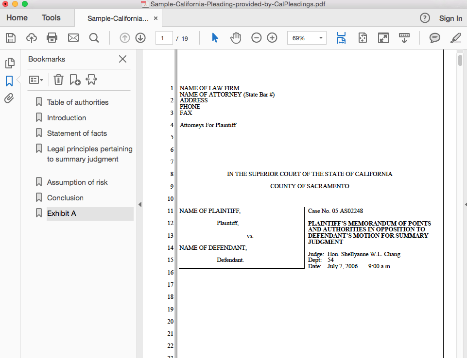 how add bookmarks to a pdf