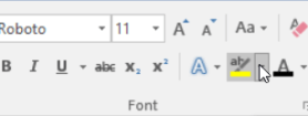 Word highlight