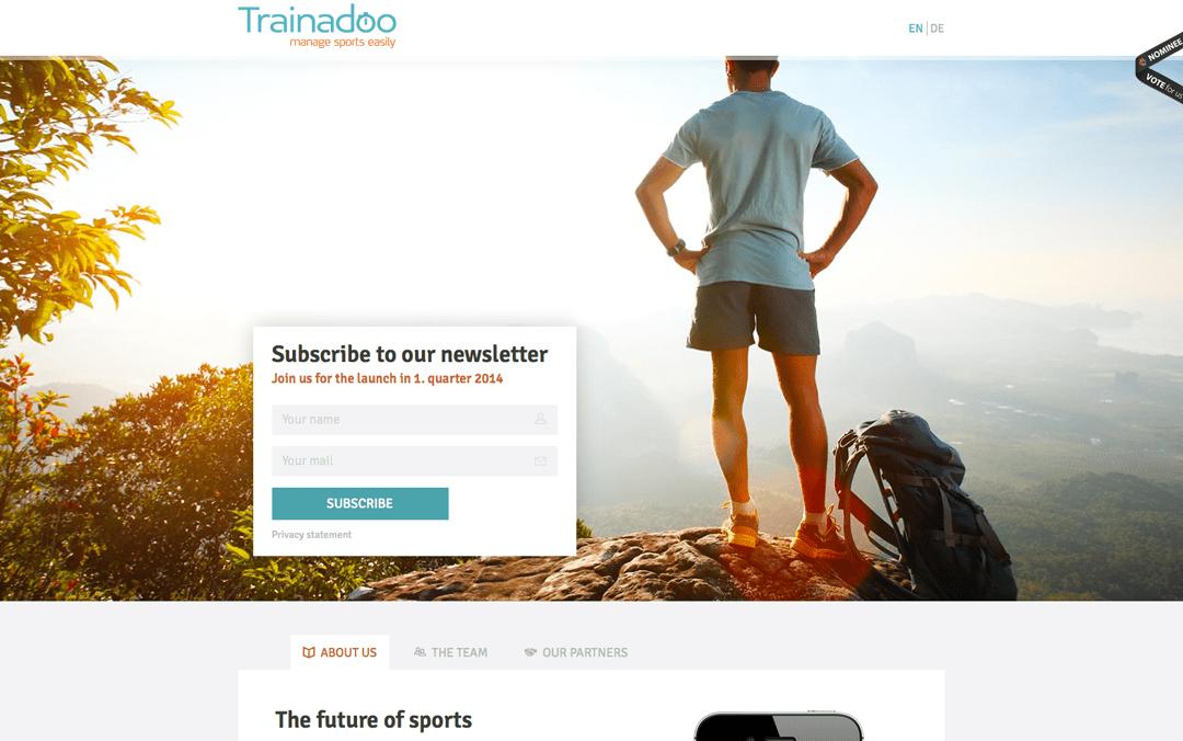 Trainadoo one page app website
