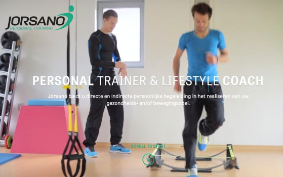 single page fitness website
