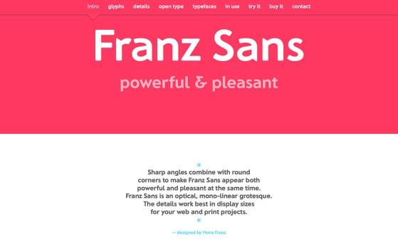Franz Sans Font