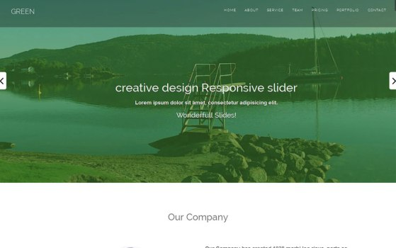 free one page website template