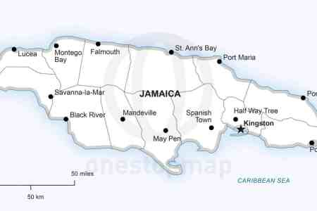 30 map jamaica political