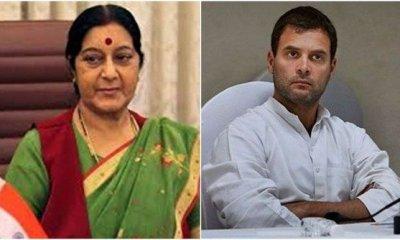 Rahul met Sushama Swaraj