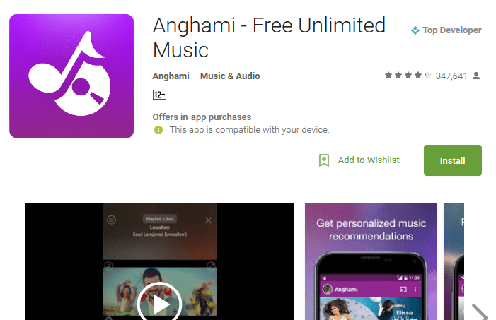 Anghami Free music downloader apps