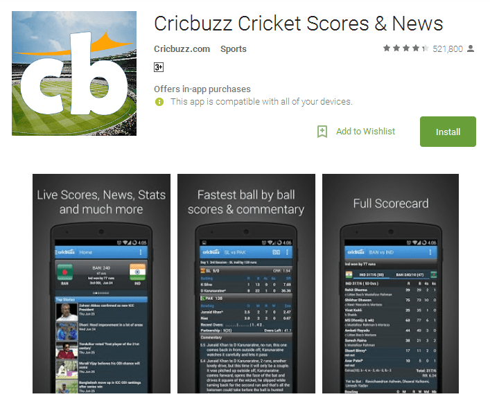 Cricbuzz Cricket Scores News Android Apps